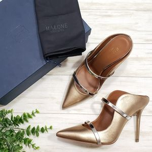 Malone Souliers Maureen Pumps Strappy Gold